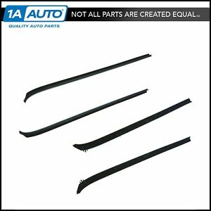 Front Inner Outer Window Sweep Kit Set Of 4 For Ramcharger Pickup Trailduster