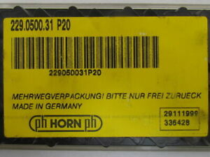 Horn 229 0500 31 P20 Carbide Grooving Insert P20 Box Of 10