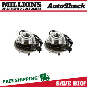 Front Pair 2 Wheel Hub Bearing Assembly For 2002 2004 2005 Ford Explorer W Abs