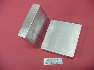 7 Pieces 3 4 x 3 1 2 x 3 1 2 Aluminum 6061 Flat Bar T651 750 Plate Mill Stock