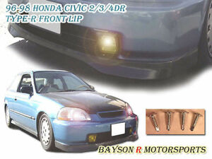 Tr Style Front Lip Urethane Fits 96 98 Honda Civic 2dr