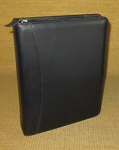 Classic 1 5 Rings Black navy Blue Leather Franklin Covey Planner binder Usa