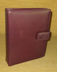 Classic 1 Rings Burgundy Leather Franklin Covey institute Open Planner binder