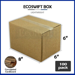 100 8x6x6 Cardboard Packing Mailing Moving Shipping Boxes Corrugated Box Cartons