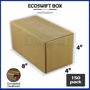 150 8x4x4 Cardboard Packing Mailing Moving Shipping Boxes Corrugated Box Cartons