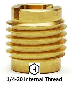 Ez lok P n 400 4 1 4 20 Threaded Brass Insert For Wood 250 Pieces