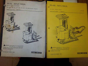 Prime Mover Rr 40b Reach Truck Repair Service Part Manual Rr 40b Rider Forklift
