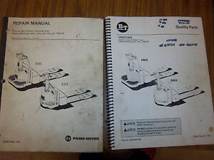 Bt Prime Mover Rmx Hmx Electric Low Lift Pallet Truck Service Repair Part Manual