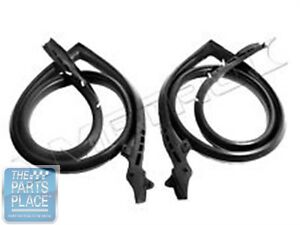1973 74 Dodge Charger Roofrail Weatherstrip Seal Pair Rr4002s