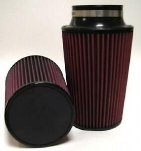 High Performance Conical Air Filter 3 5 Flange 8 Length 6 25 Base Red Oil