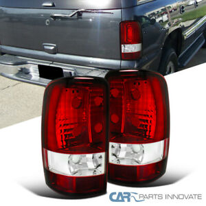 2000 2006 Chevy Tahoe Suburban Gmc Yukon Denali Tail Lights Rear Brake Lamps Red