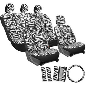 Car Seat Covers For Toyota Corolla Snow White Zebra Tiger Animal Print Be