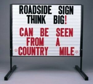 Big Roadside 36 x48 Message Board Marquee 2 Sided Sign