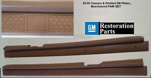 1989 Pontiac Turbo Trans Am Door Sill Plate Beechwood Pair Brand New Gmrp