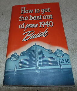 1940 Buick Owner S Manual Vintage Hot Rat Rod Body Lights Electrical T