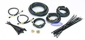 Tandem Axle Trailer Brake Line Kit With Flexible Hydraulic Rubber Hoses