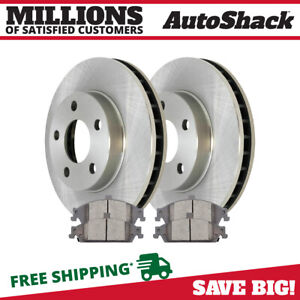 Front Rotors And Ceramic Pads For 1999 2005 Pontiac Grand Am 1997 2004 Malibu