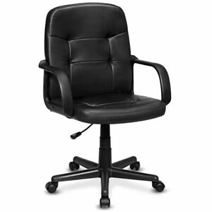 Ergonomic Mid back Executive Office Chair Swivel Computer Desk Task Chair New