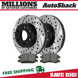 Auto Shack Scdpr65099650991092 Front Ceramic Brake Pad Performance Rotor Bundle