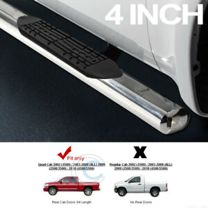4 Oval Chrome Side Step Nerf Bars Rail Running Boards For 02 09 Dodge Ram Quad