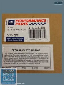 Gm Performance Dana 44 Limited Slip Differential Rear End Unit Gm 10132881