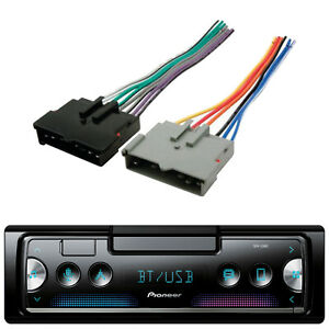 Pioneer Car Aux Cd Mp3 Stereo Receiver Installation Car Antenna Wire Harness