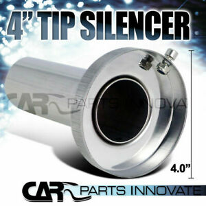 Insert Removable Silencer For 4 Tip Stainless Exhaust Muffler