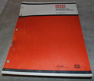 Case Model 870 Tractor Parts Catalog No A1171 S n 8675001 And After x