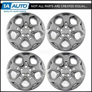 17 Inch 5 Spoke Painted Wheel Cover Hub Cap Set Of 4 For 10 12 Ford Fusion New