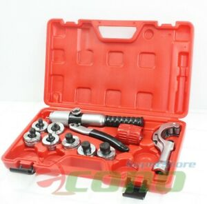 Pro Hydraulic Hvac Pipe Tube Expander 7 Lever Expanding Swaging Kit 3 8 1 1 8
