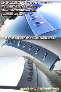 Vor style Vg Roof Spoiler carbon Look Fits 01 07 Mitsubishi Evo 7 8 9