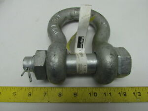 Dayton 1 1 8 Anchor Shackle Safety Pin Galvanized Clevis 9 1 2 Ton Load Limit
