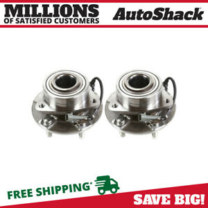 02 07 Front Wheel Hub Bearing Assembly Pair Set For Equinox Torrent Vue W Abs
