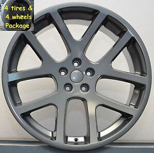 4 22 Tires Wheel Package Dodge Viper Grey 300 Challenger Charger Magnum Rims