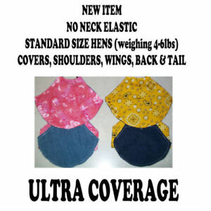 5 Deluxe Ultra Chicken Saddle Apron Hen Feather Protect Chicken Hatching Eggs