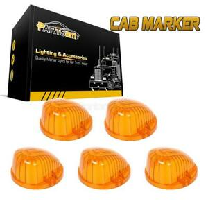 5x Amber Cab Roof Light Marker 9069a Covers Lens For Chevy Gmc K1500 K2500 K3500