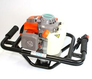 63cc One Man Gas 2 5hp Power Head Post Fence Hole Earth Auger Machine
