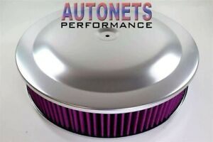 14 Round Anodized Aluminum Air Cleaner Washable Chevy Ford Mopar Sbc Light Wt