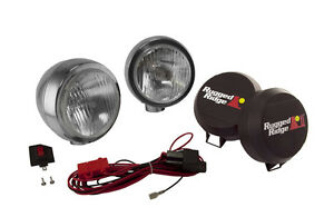 Rugged Ridge 6in Round Hid Off Road Fog Light Kit Stainless Stl Housing 15206 51