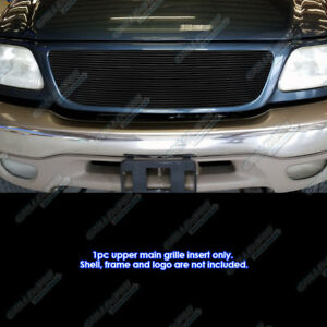 Fits 1999 2002 Ford Expedition 22 Bars Replacement Black Billet Grille
