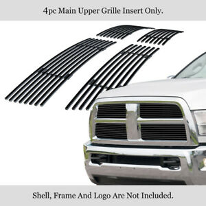 Fits 2010 2012 Dodge Ram 2500 3500 Black Billet Grille Inserts