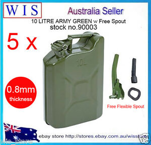 10l Metal Jerry Can Fuel Engine Diesel Petrol Oil Storage Container