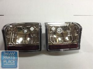 1970 72 Chevrolet Chevelle El Camino Tail Lamp Lens Bezel And Housing Pair