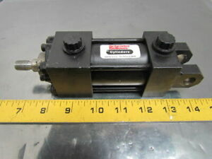 Schrader Faa108141 Pneumatic Air Cylinder 1 1 2 Bore 1 Stroke Clevis Mount