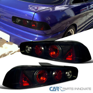 Glossy Black Fit Acura 94 01 Integra 2 3dr Smoke Tail Lights Tinted Brake Lamps