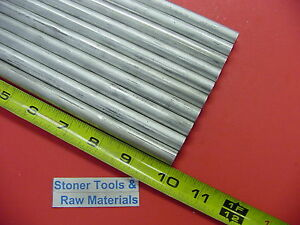 10 Pieces 1 2 Aluminum 6061 Round Rod 10 Long Solid T651 Lathe Bar Stock