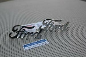 Chrome Ford Script Emblems Hot Rod Pickup Truck Low Boy Deuce Coupe Fender Body