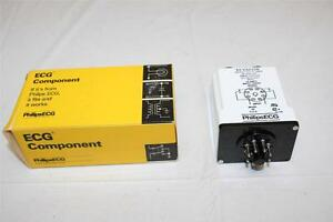 Ecg Relay Rly4845k Dpdt 10a 120vac Adjustable Time Repeat Cycle Timer Relay New