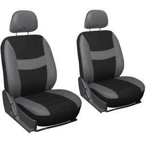 Truck Seat Covers For Auto Dodge Ram 6pc Bucket Grey Black W Head Rest Mesh