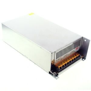 110v Ac To Dc Converter 12v 40a Regulated Switching Power Supply Us